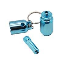 2021 파란색 독특한 디자인 금속 연기 파이프 크리 에이 티브 멋진 담배 덮개 흡연 담배 파이프 액세서리