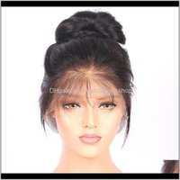 Capless Products360 Full Frontal Wig Lace Wigs Whole Human Hair Drop Delivery 2021 D6Rat