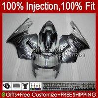 Injection mold Fairings For KAWASAKI NINJA ZX1200 C ZX 1200 12R 1200CC ZX 12 R 1200 CC 00-01 Bodywork 2No.32 ZX1200C ZX12R 00 01 ZX-12R 2000 2001 OEM Body Kit silvery flames