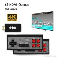 DATA FROG USB Game Consoles Wireless Portable 4K HD Video Game Player HDMI 568 AV 600 Retro Classic Games Handheld Entertainment Joystick