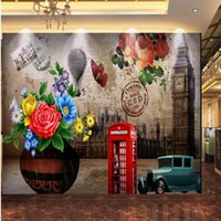 Wallpapers Dropship 3D Po Wallpaper Oil Painting European American Style Flowers Retro Background Living Room Bedroom Mural