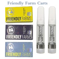 Friendly Farms Vapes Cartridges Vape Pens Carts Packaging Ceramic Atomizer Disposable Cart Glass 510 Thread Vaporizer 0.8 1.0 ML Thick Oil Tubes 3 Colors BOX