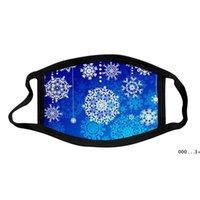 Padrão de floco de neve impresso máscaras de algodão à prova de poeira e lavável máscara para crianças adulto fwf9938