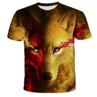 Lovers Wolf Printed T shirts Men 3D T-Shirts Drop Ship Top Tee Short Sleeve Camiseta Round Neck Tshirt Fashion Casual Brand Tk0186