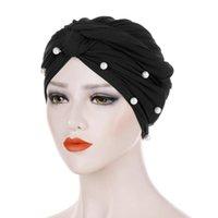 Scarves Head Scarf For Muslim Women Solid Cotton Turban Bonnet Hijab Caps White Pearl Inner Hijabs Femme Musulman Arab Wrap Turbantes
