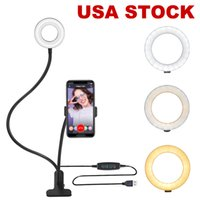 """12"""" Dual Ring Light, Dimmable LED Selfie Ringlight Tripod Stand & Three Phone Holders, 3 Lights Modes Makeup Lighting with Remote for Live Stream"""