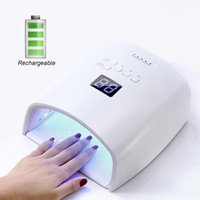 Nail Dryers Wireless Built-in Battery Rechargeable UV Lamp 48W Gel Polish Dryer Pedicure Manicure LED