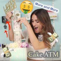 Moda divertente torte trasportatore stampo torta malyys scatola soldi tirando stampi per la produzione di stampi alimentari al sicuro per i regali di compleanno