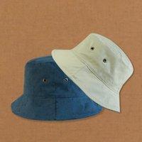 Moda Tasarım Deri Kova Şapka Mens Womens Için Katlanabilir Balıkçılık Kapaklar Siyah Balıkçı Plaj Güneşlik Satış Katlanır Adam Mowler Cap