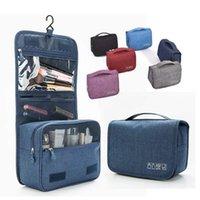 أدوات الزينة شنقا حقيبة غسل السفر المنظم أكياس ماكياج مربع التجميل حالة مع شنق هوك للماء الحمام الحقيبة سعة كبيرة WY1247