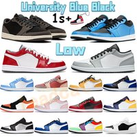 Üniversite Mavi Siyah Düşük 1 1 S Basketbol Ayakkabı UNC Hafif Duman Gri Oyunu Kraliyet Çam Yeşil Güney Yan Gölge Erkekler Sneakers Concord Spor Eğitmenleri