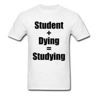 Collier CCCCSPORNOND Print Tshirt Student + Mourir = Étudier 100% coton Mens t-shirts T-shirts moins chers Hommes Tops Chemise Funny Haute Qualité