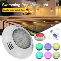 حمام سباحة ضوء أضواء تحت الماء 12V مصباح الحائط مع التحكم عن بعد الملونة