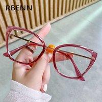 RBENN تصميم النساء القط العين نظارات مكافحة الضوء الأزرق السيدات النظارات قصر النظر وصفة طبية الإطار البصري الكمبيوتر الألعاب النظارات Y0831