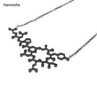 Necklace Pendants Molecule Science Memory Gold Choker For Women Student Graduation Men Gifts Chains