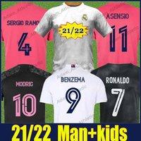 레알 마드리드 축구 유니폼 2021 2022 남자 키트 키트 위험 Modrric Valverde Sergio Ramos 축구 유니폼 Vini Jr Marcelo Kroos 벤즈마 Asensio Camiseta de Galacto Top
