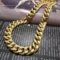 Fashion Night Club Exaggerated Jewelry Personality Hip Hop Gold Long Aluminium Chains Necklaces