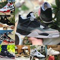 Air Jordan 4 retro jordans  Nike Verkauf 2021 gezüchtet Black Cat 4 4s Basketballschuhe Männer Herren Union La Noir White Cement Encore Wings Fire Red