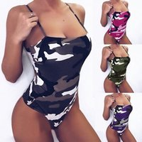 Fashion Sexy Women's Swimwear Printing suit Sling Bikini set Multicolors Summer Time Beach Bathing suits Wind High Quality Slim Camouflage