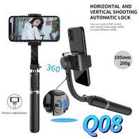 Fanguotsi 2021 Novo Bluetooth Handheld Gimbal Stabilizer Selfie Stick Expansível Handheld Monopé Mini Tripé para Android iOS