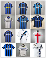1990 1997 1998 1998 1999 Inter Vinatge Mailand Retro Fussball Fussball 9 Ronaldo 22 Milito 10 Sneijder 10 Baggio Zanetti Vieri Football Shirt Kits Thailand
