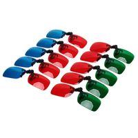 2x Red y Cyan Glasses encaja en la mayoría de la prescripción para películas en 3D, TV de juego (1x Clip en; 1x estilo Anaglyph)