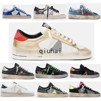Sneakers Statards Stardan Dogie Sale Sports Chaussures Golden Hommes Femmes Casual Chaussures Cuir Blanc Cuir Designer Plat Chaussures d'oie Grand Taille 35-46