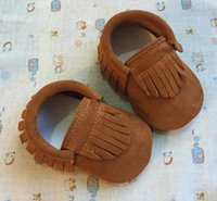 First Walkers Cowhide Baby Moccasins Genuine Leather Shoes Infant Boys Girls Toddler