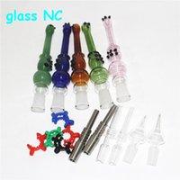 glass bong hookah kits with tips oil burner bongs smoking water Pipe dab straw pipes quartz banger nail