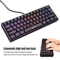وصول V700 الألعاب غشاء لوحة المفاتيح RGB ضوء مصغرة 61 مفاتيح لأجهزة الكمبيوتر المحمول كمبيوتر ألعاب Keyboards