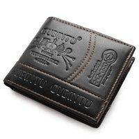 Мода мужской парижский кожаный кошелек сплошной цвет двойной складки Multi Card держатель модные повседневные дикие короткие кошельки кошельки