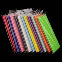 19.7 cm Burbuja desechable Té del arco iris grueso Paja de papel de beber para el cumpleaños de la barra Suministros de fiesta de bodas