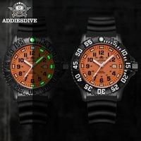 Addies 2021 quartzo assistir homens luminosos 316l aço inoxidável 50m relógios militares à prova d'água para homens equipamentos ao ar livre relógios de pulso
