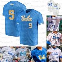 2021 NCAA UCLA College Baseball Jerseys Brandon Crawford 7 Chase Utley 12 Gerrit Cole 42 Robinson 화이트 그레이 라이트 블루