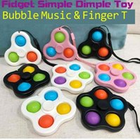 Lanière Fidget Simple Toys Dimples Toys Bubble Poppers Bague Poussez POP Spinner Board Stress Soulagement Decompression Decompression Doigt Bulles Dnastress Balls