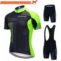 Capo Pro Команда Летние Велоспорт Джерси Установить Велосипед Одежда Дышащие Мужчины Короткая Рубашка Рубашка Bike Bib Шорты 19D PAD Гоночные Наборы