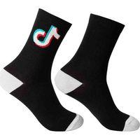 Tiktok Mektuplar Patchwork Çocuk Çorap Moda Sonbahar Erkek Grils Uzun Çorap Tik Tok Rahat Spor Orta Buzağı Uzunluğu Diz-Yüksek Çorap G97KRBI