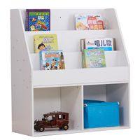 الأطفال أطفال بيضاء خزانة كتب الجرف رف الكتب عرض الرف المنظم حامل 73 * 30 * 80 سم للأطفال والمعيشة غرفة الولايات المتحدة