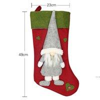 Navidad Stocking Bolsa de regalo Árbol de Navidad Adorno Calcetines de Navidad Medias Candy Bag Home Party Artículos decorativos Tienda ShopWindowHWD6097