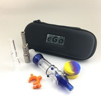 Recycle dab rigs sets 10mm 14mm 18mm titaninum nail Quartz Tips Keck Clip Hookahs Silicone Container Reclaimer Collector