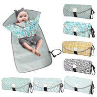 Bezi Bezi 3-in-1 Multifuctional Bebek Değiştirme Mat Su Geçirmez Taşınabilir Bebek Uyuk Kapak Pedleri Seyahat Açık Bezi Çanta 1762 B3