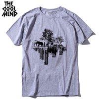Curto coolmind qi0410a top qualidade de algodão puro manga casual camiseta verão solto tshirt masculino camiseta homens t-shirt homens