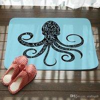 Cocina Cuarto de baño Topero Mediterráneo Coloreado Pulpo de pulpo alfombrillas de baño Sala de estar Dormitorio No resbalón alfombras alfombras