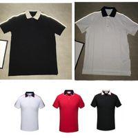 Mens Polos с коротким рукавом футболки большие или маленькие лошади плюс размер M-3XL несколько цветных вышивка этикетка Hommes Classic Business повседневная топ-футбол