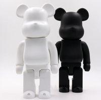 400% 28 cm 0.4 kg Bearbrick Kaçar Tutkal Siyah Ayı Ve Beyaz Ayı Kollektörler Için Beyaz Ayı Oyuncak Be @ Rbrick Sanat Çalışma Modeli Süslemeleri Hediye
