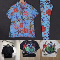 Baroque style starfish Two Piece pants shirt + leggings (and T-shirt)