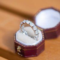 여성 웨딩 밴드 925 스털링 실버 약혼 수 페리 어 소나 다이아몬드 화이트 골드 컬러 여성 링 선물