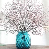 Simulation Decorations Coral Branch Plant Plastic Peacock Tree Sea Dried Artificial Decorative Flowers & Wreaths
