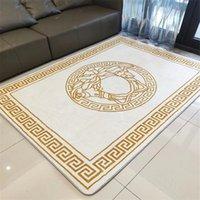고품질 아니 슬립 카펫 홈 호텔 문 매트 고전 디자이너 럭셔리 편지 패턴 깔개