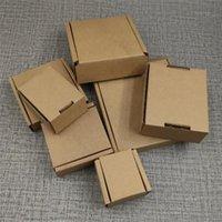 Envoltório de presente 100 pcs 10 Tamanho Caixa de papel corrugada de papel kraft para embalagem de item pequeno DIY Envoltório Postal